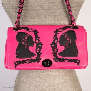 Pink Shadow Silhouette Purse